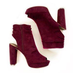 Charlotte Russe • Antonia Heeled Open Toe Booties